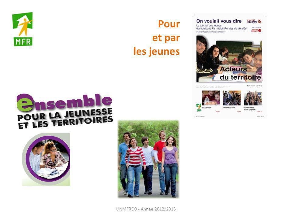 Pour et par les jeunes UNMFREO - Année 2012/2013