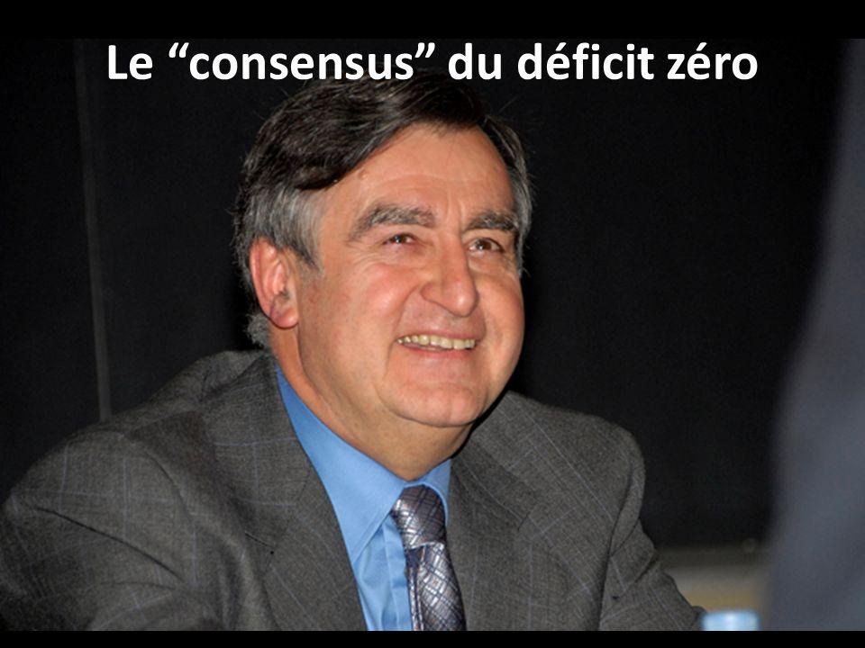 Le consensus du déficit zéro