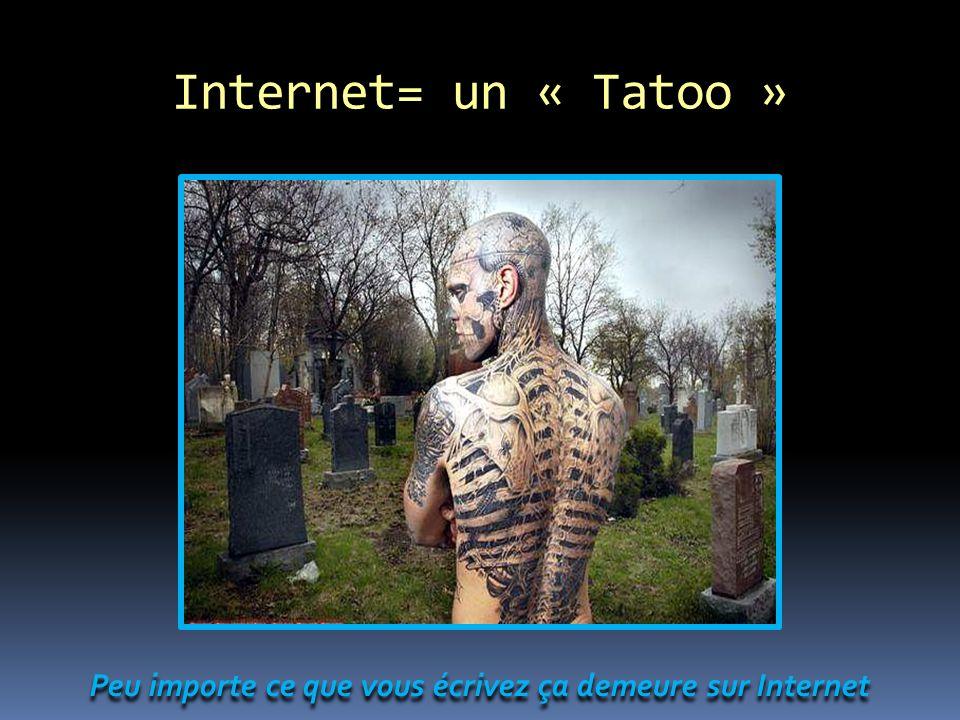 Internet= un « Tatoo » Peu importe ce que vous écrivez ça demeure sur Internet