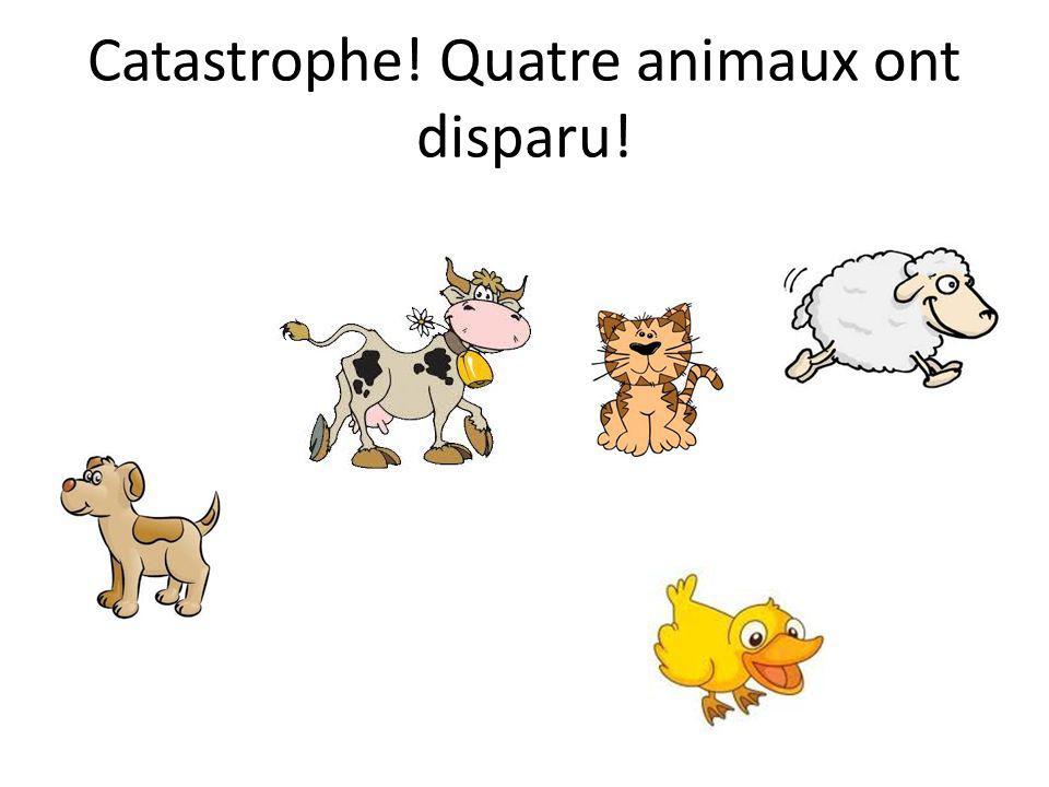 Catastrophe! Quatre animaux ont disparu!