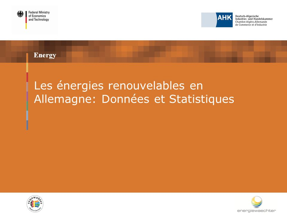 Energy Les énergies renouvelables en Allemagne: Données et Statistiques