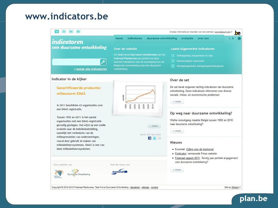 plan.be www.indicators.be