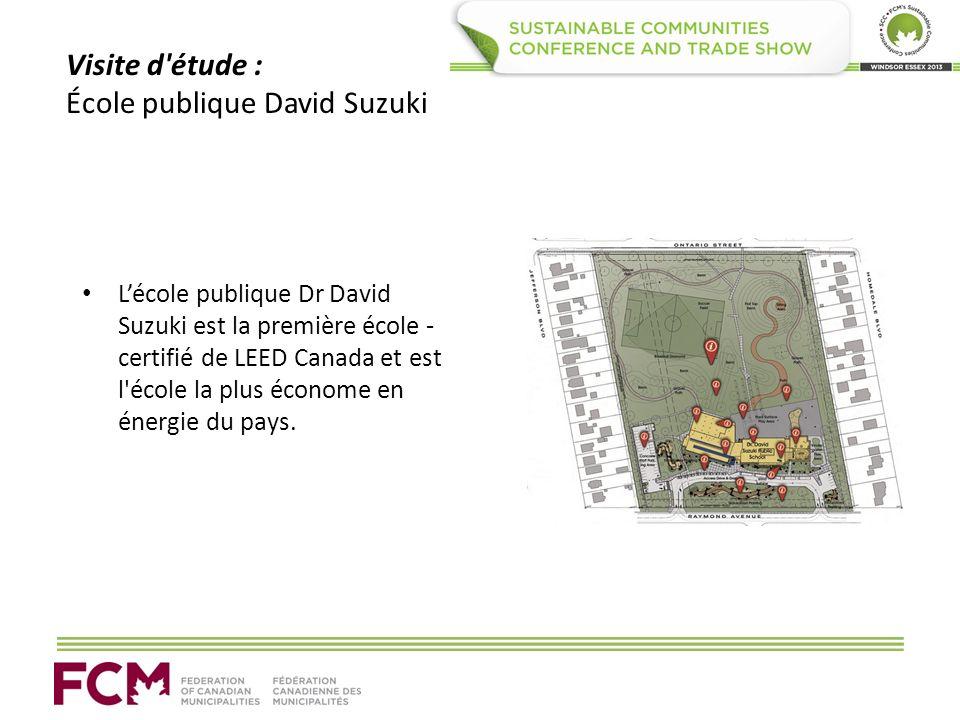 Visite d'étude : École publique David Suzuki Lécole publique Dr David Suzuki est la première école - certifié de LEED Canada et est l'école la plus éc