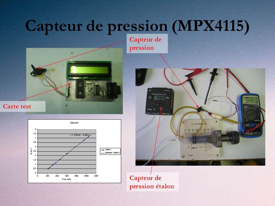 Capteur de pression (MPX4115) Carte test Capteur de pression Capteur de pression étalon