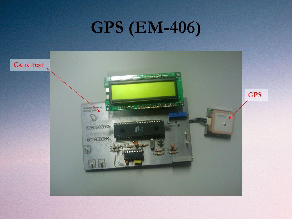 GPS (EM-406) GPS Carte test