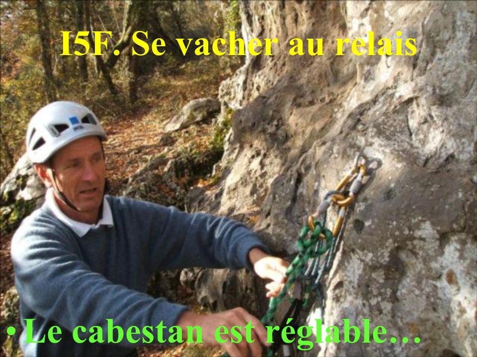 I5F. Se vacher au relais Le cabestan est réglable…