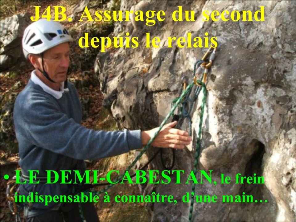 J4B. Assurage du second depuis le relais LE DEMI-CABESTAN, le frein indispensable à connaître, dune main…