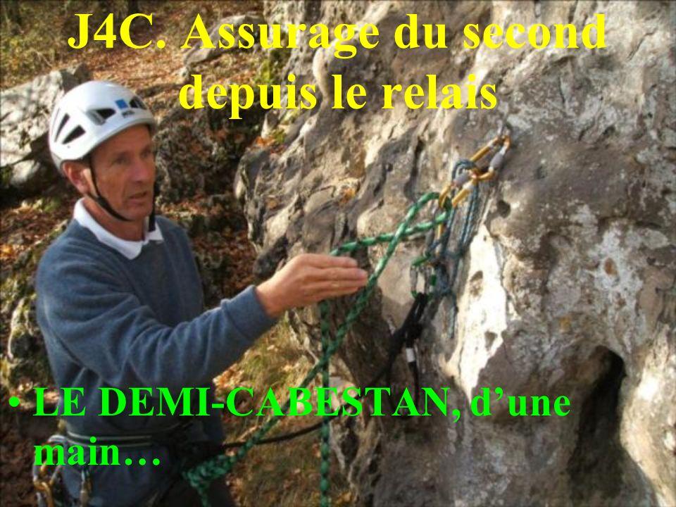 J4C. Assurage du second depuis le relais LE DEMI-CABESTAN, dune main…