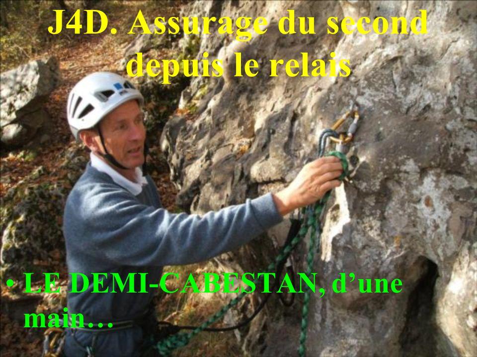 J4D. Assurage du second depuis le relais LE DEMI-CABESTAN, dune main…