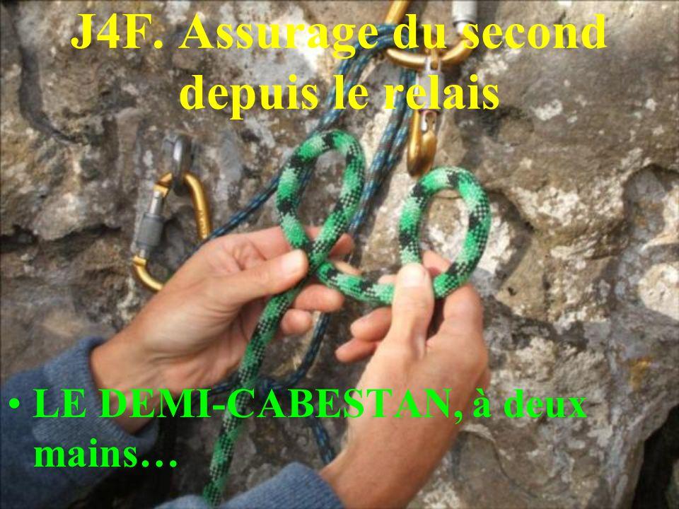 J4F. Assurage du second depuis le relais LE DEMI-CABESTAN, à deux mains…