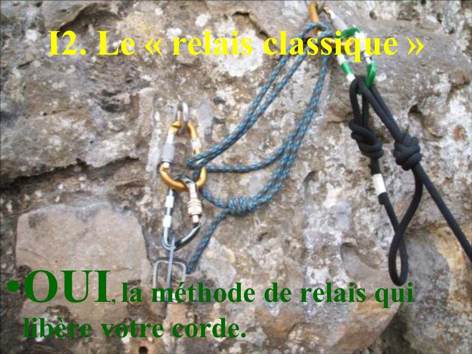 I2. Le « relais classique » OUI, la méthode de relais qui libère votre corde.