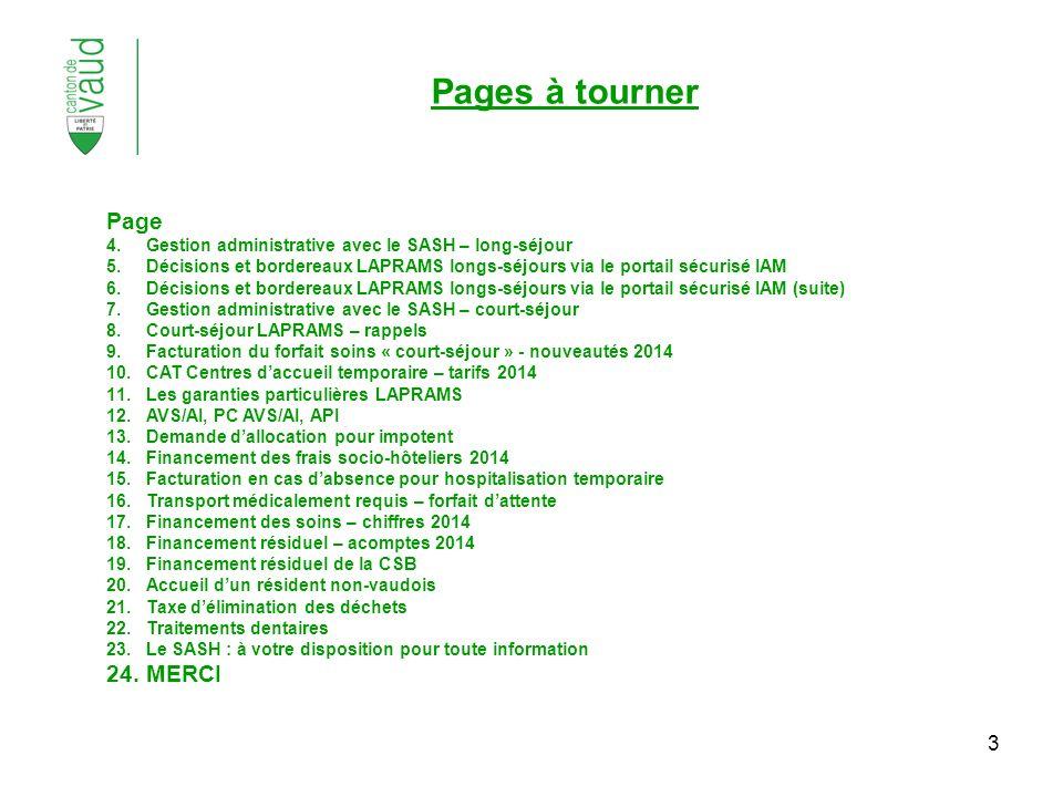 3 Page 4.Gestion administrative avec le SASH – long-séjour 5.Décisions et bordereaux LAPRAMS longs-séjours via le portail sécurisé IAM 6.Décisions et
