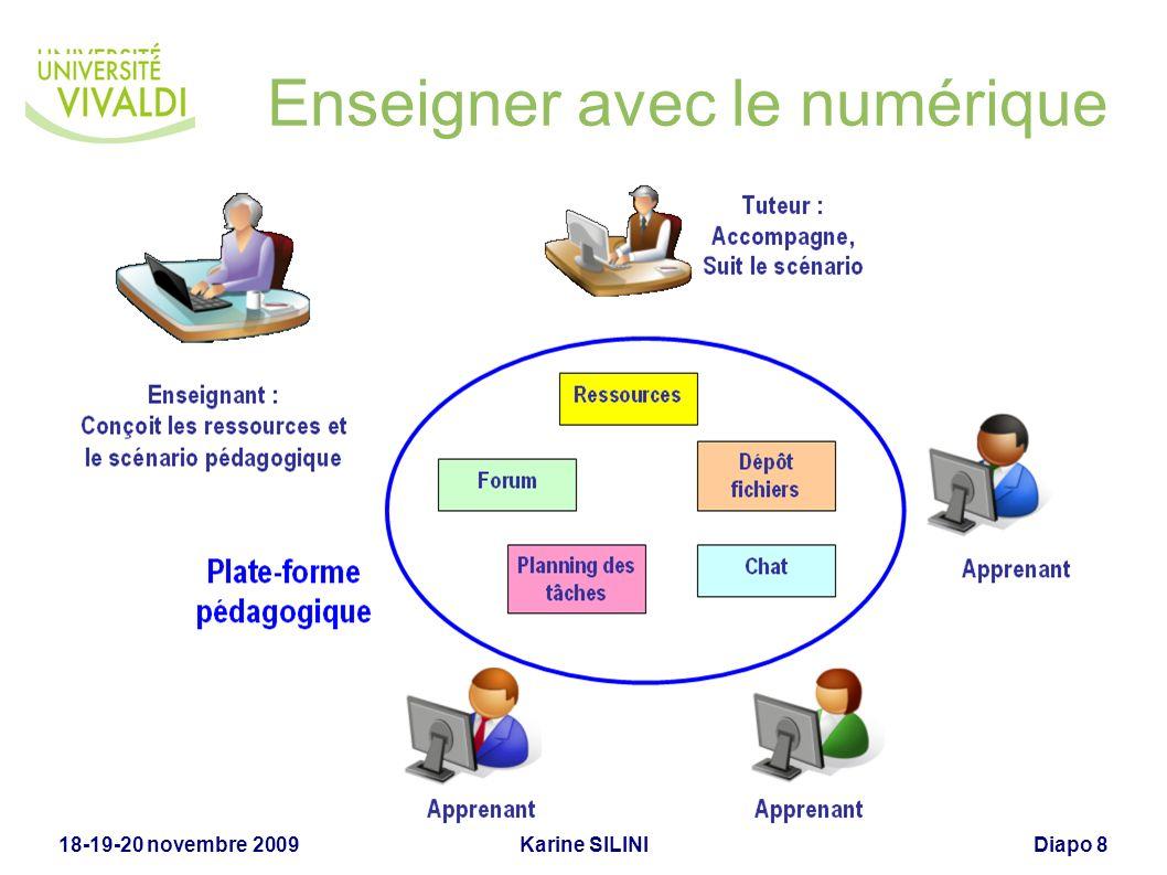 Karine SILINI18-19-20 novembre 2009Diapo 8 Enseigner avec le numérique