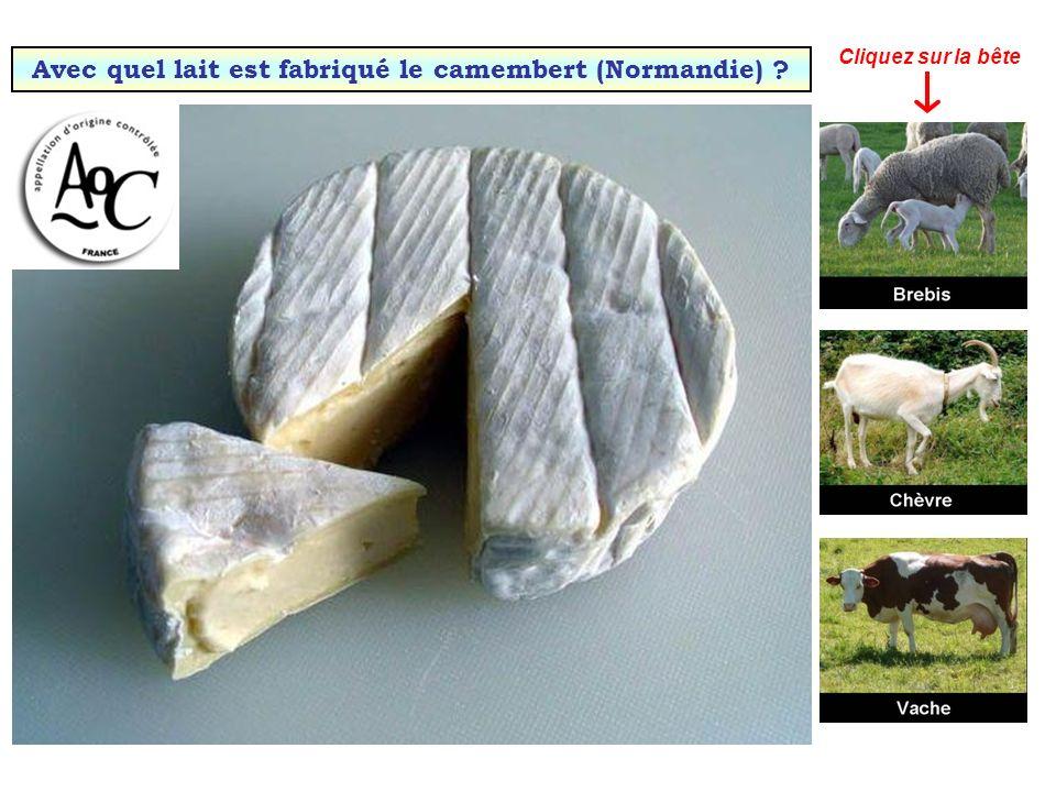 Quel fromage a obtenu la première AOC française en 1925 ? Camembert Comté Roquefort