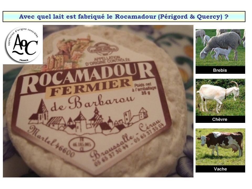 Avec quel lait est fabriqué le camembert (Normandie) ? Cliquez sur la bête