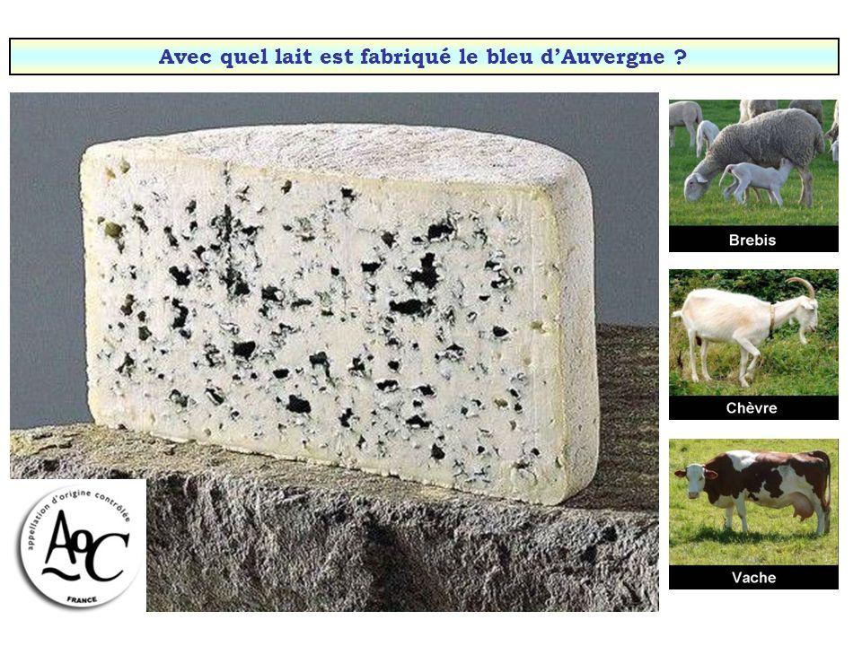 Avec quel lait est fabriqué le Roquefort (Aveyron) ?