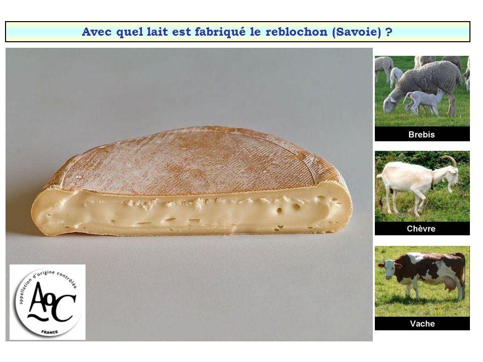 Avec quel lait est fabriqué le Charolais (Bourgogne) ?