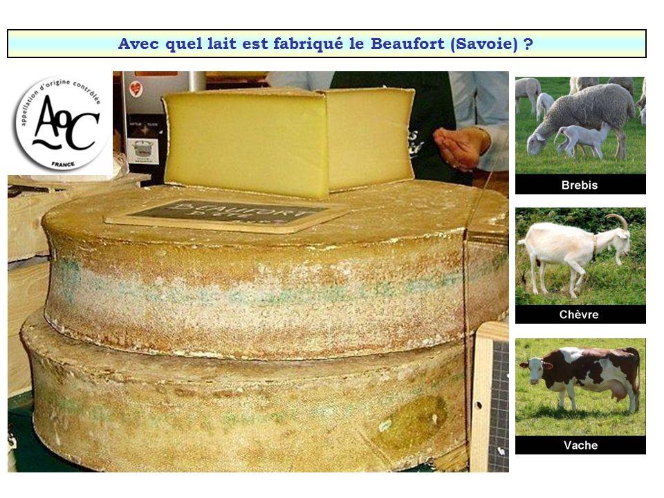 Avec quel lait est fabriqué le reblochon (Savoie) ?
