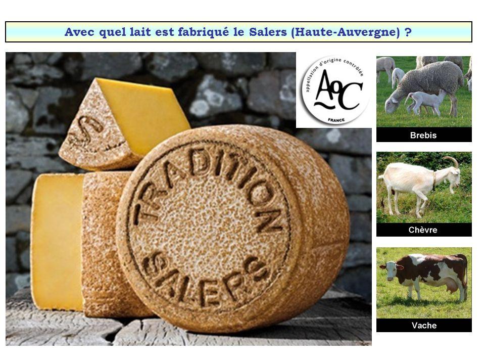 Avec quel lait est fabriqué le Beaufort (Savoie) ?