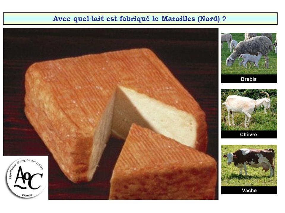 Avec quel lait est fabriqué le Salers (Haute-Auvergne) ?