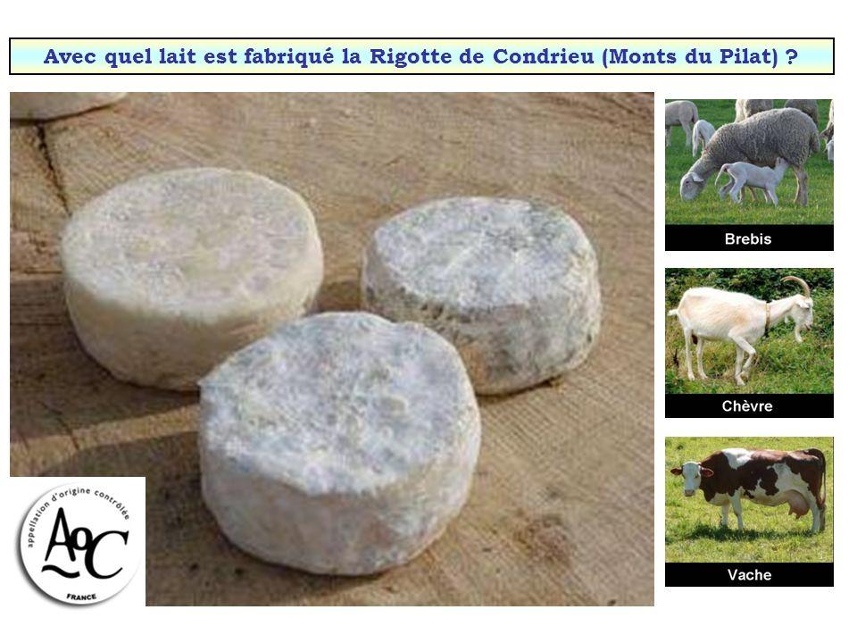 Avec quel lait est fabriqué le munster (Alsace & Lorraine) ?
