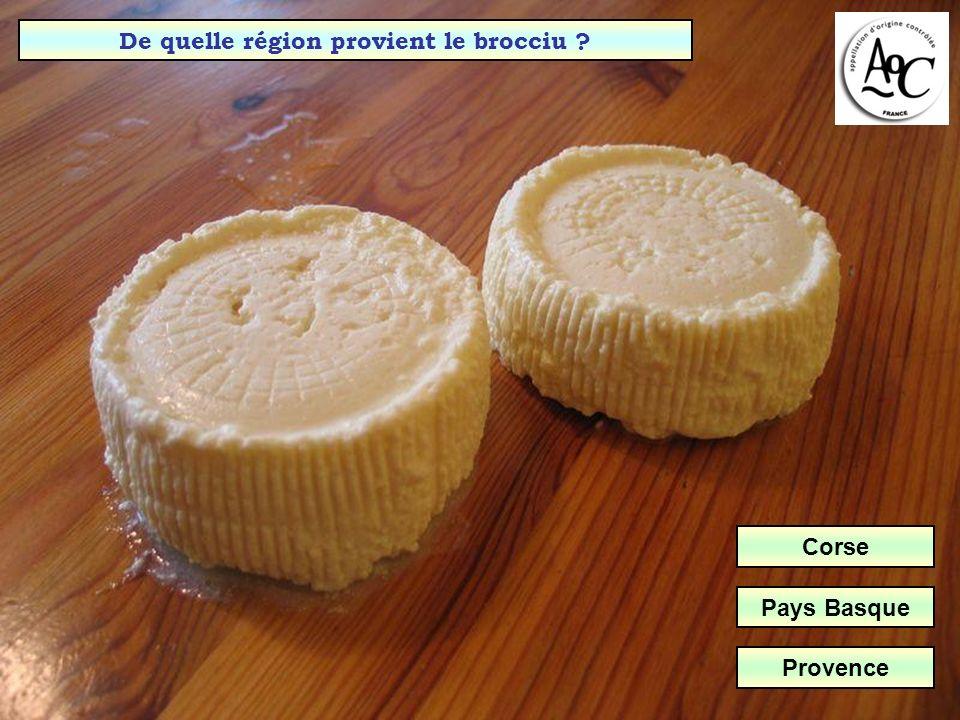 Avec quel lait est fabriqué le Chaource (Aube & Yonne) ?