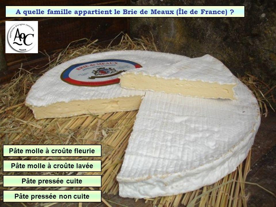 Quel type de pâte pour la Fourme dAmbert (Auvergne) ? Pâte persillée Pâte molle Pâte pressée