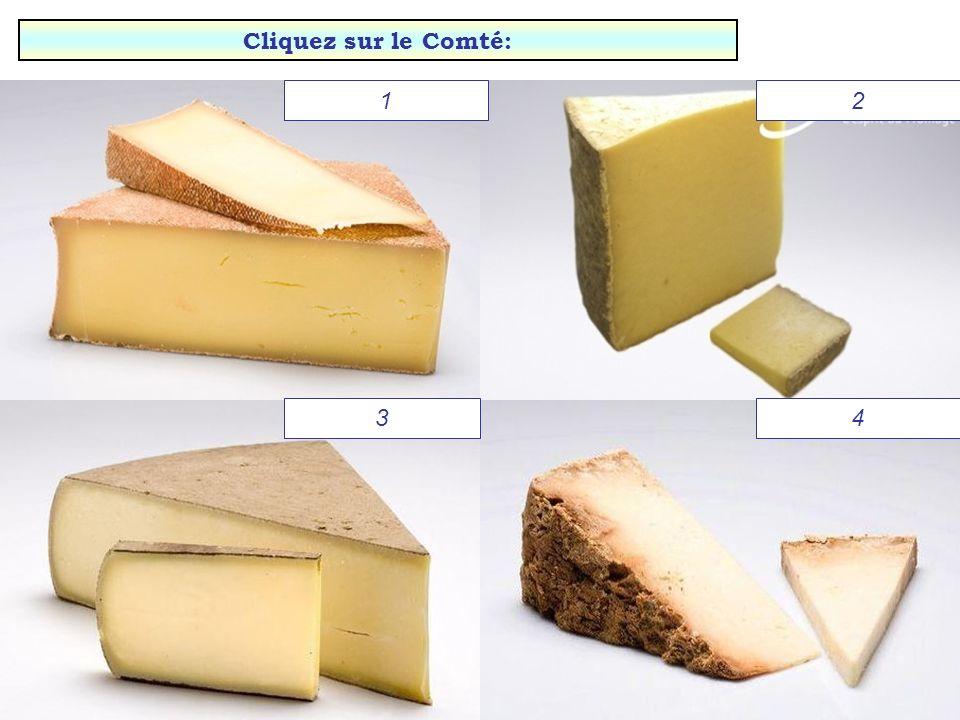 Dernier test: Les fromages au lait de vache