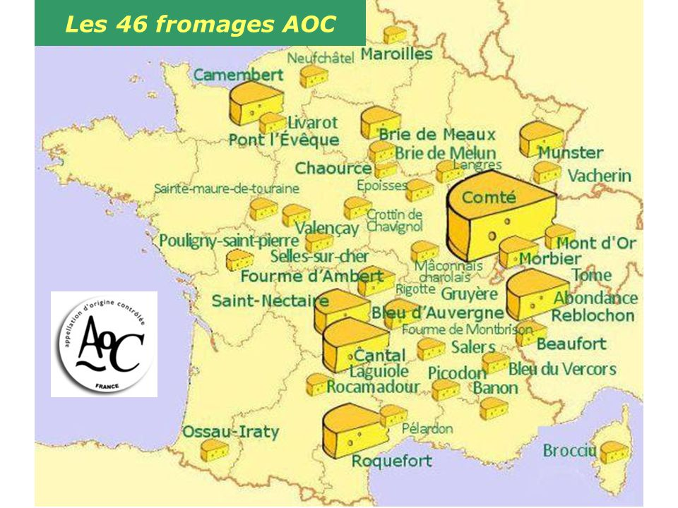 Les 46 fromages AOC