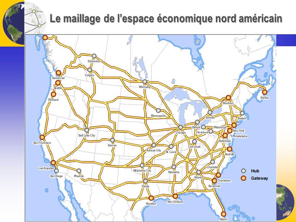 Le maillage de lespace économique nord américain