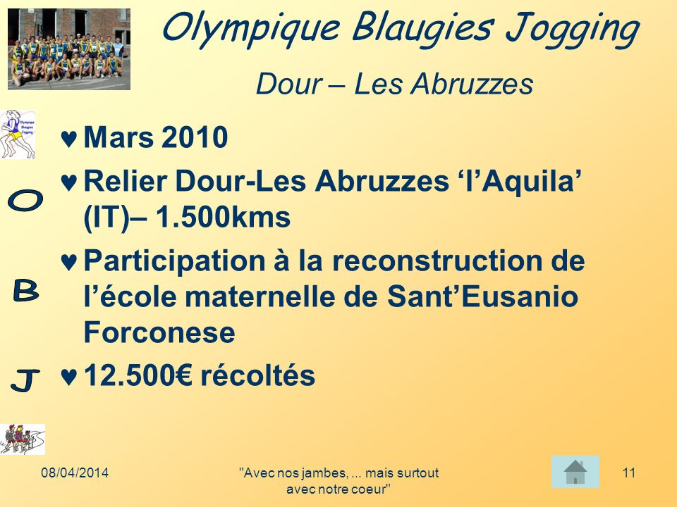 Olympique Blaugies Jogging 08/04/2014 Avec nos jambes,...