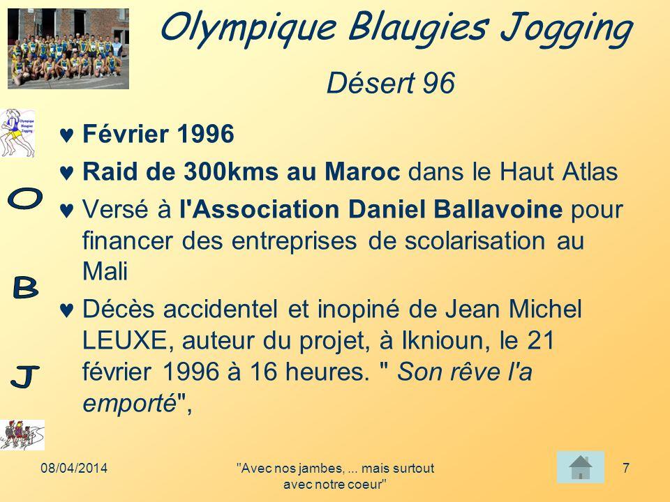 Olympique Blaugies Jogging 08/04/2014