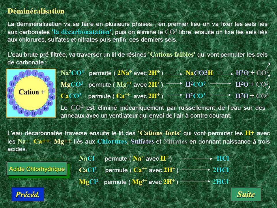 Théorie des Ions CO 3 Ca CO 3 --Ca++SO 4 Mg SO 4 -- Mg++ Anions (-) Cations (+) Les molécules sont composés de plusieurs atomes, que l'on peut dissoci