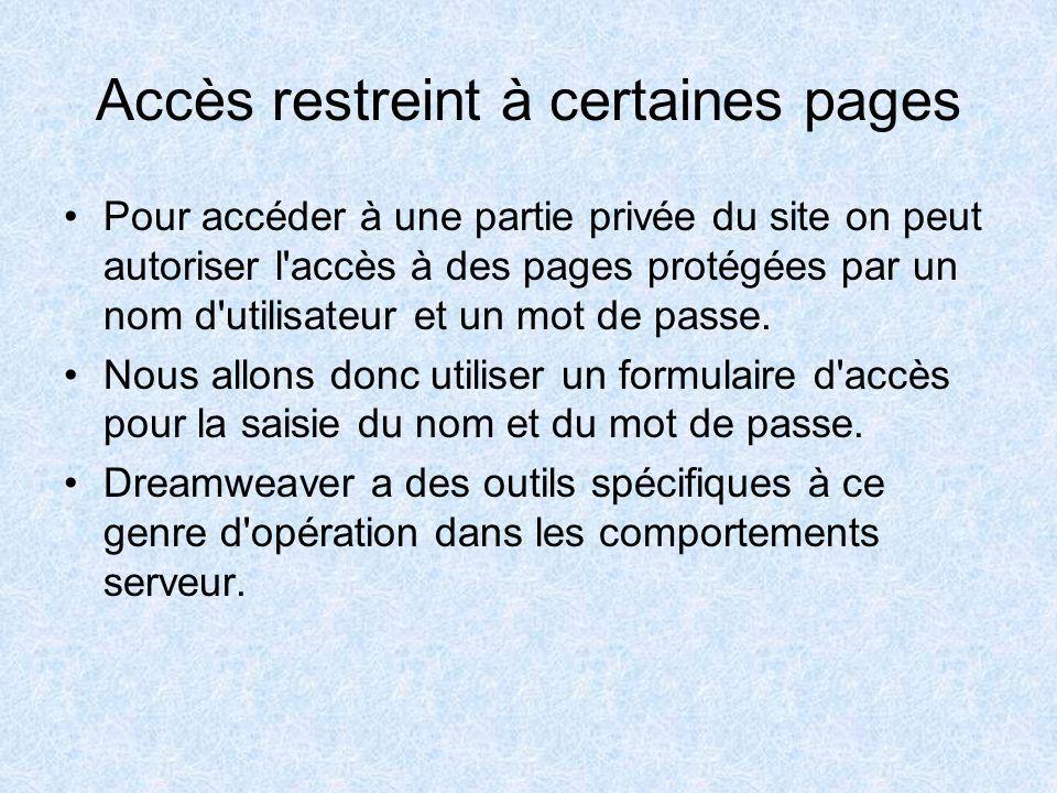 Supprimer une fiche Faire une copie de la page modification puis supprimer le comportement serveur