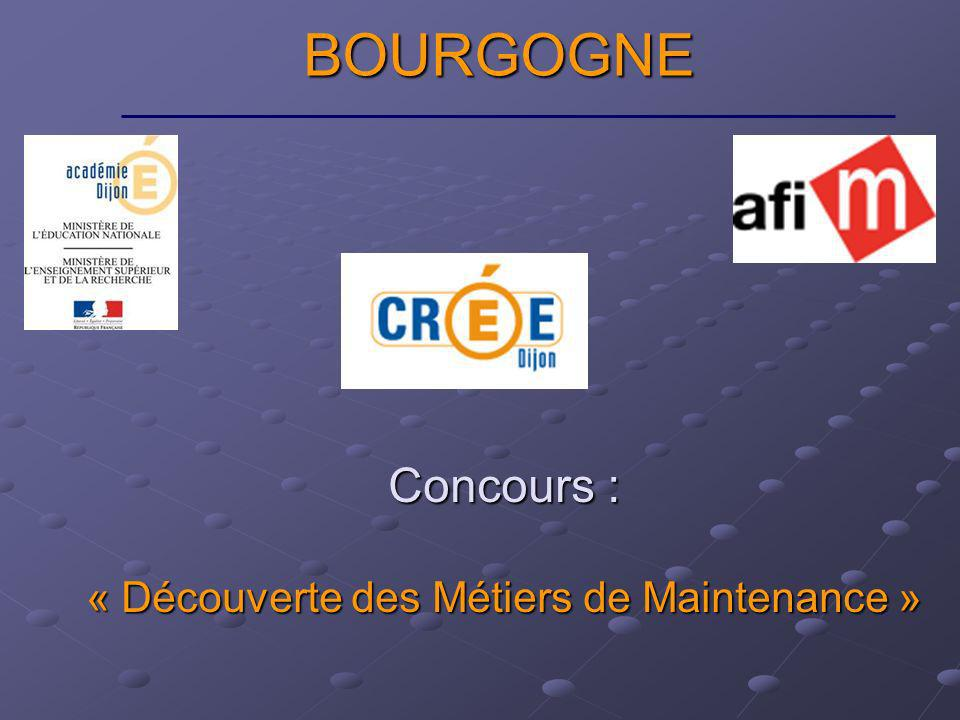 Concours : « Découverte des Métiers de Maintenance » BOURGOGNE