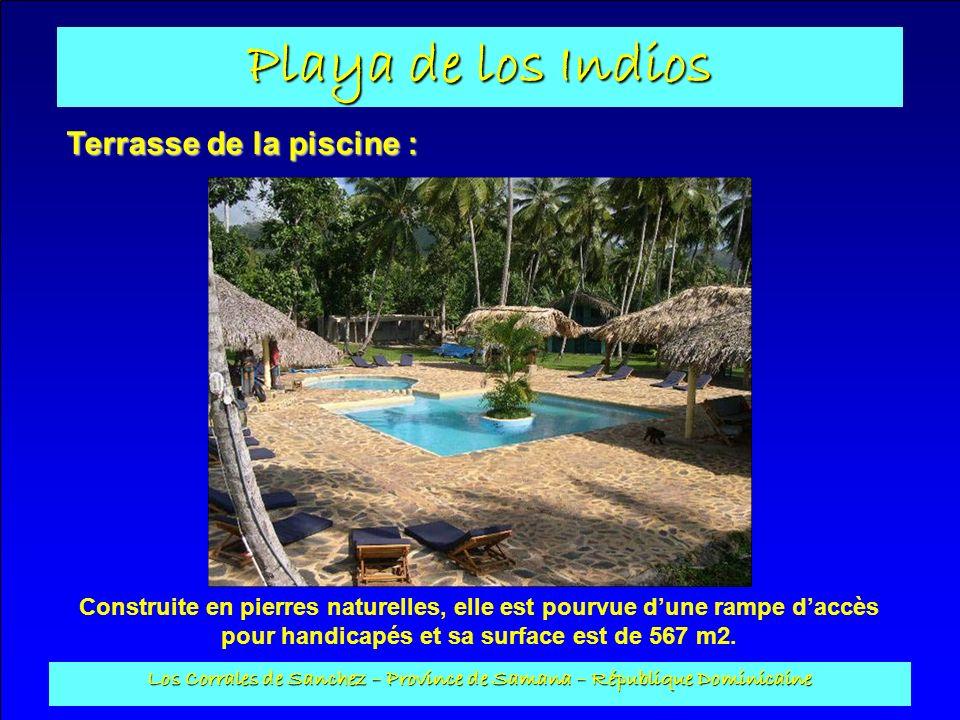 Playa de los Indios Los Corrales de Sanchez – Province de Samana – République Dominicaine Terrasse de la piscine : Construite en pierres naturelles, e
