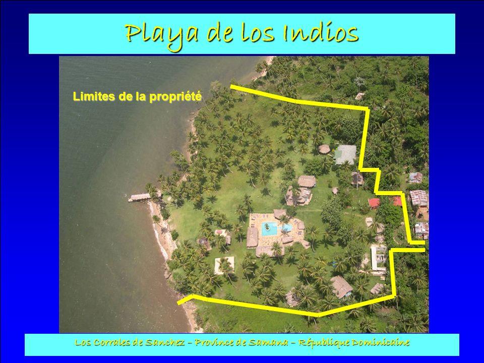 Playa de los Indios Los Corrales de Sanchez – Province de Samana – République Dominicaine Paillote 1 : Construite en poteaux de coco et en cana, son sol est en béton et sa surface au sol est de 50 m2.