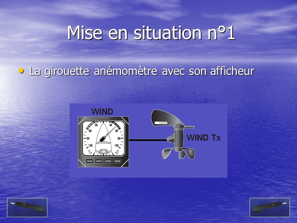 Mise en situation n°1 Mise en situation n°1 La girouette anémomètre avec son afficheur La girouette anémomètre avec son afficheur