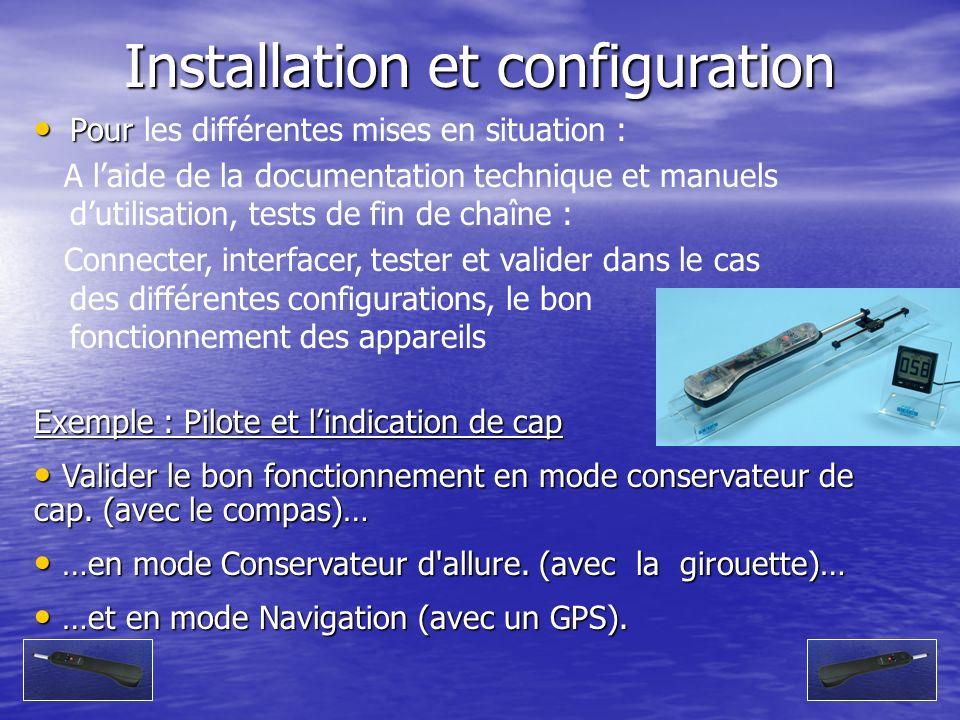Installation et configuration Pour Pour les différentes mises en situation : A laide de la documentation technique et manuels dutilisation, tests de f