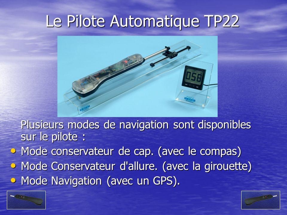 Le Pilote Automatique TP22 Plusieurs modes de navigation sont disponibles sur le pilote : Plusieurs modes de navigation sont disponibles sur le pilote