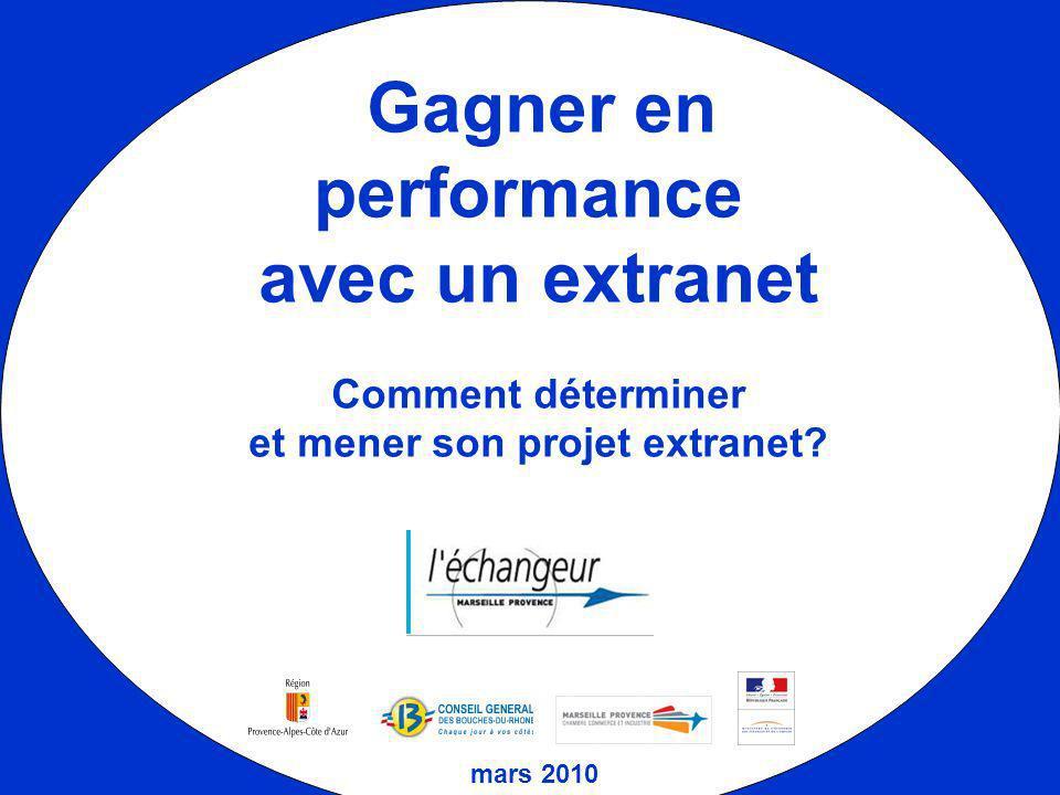 Gagner en performance avec un extranet Comment déterminer et mener son projet extranet? mars 2010
