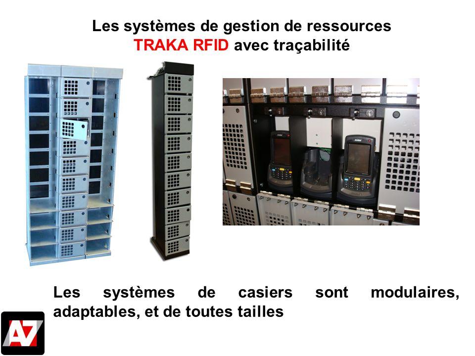 Les systèmes de gestion de ressources TRAKA RFID avec traçabilité Les systèmes de casiers sont modulaires, adaptables, et de toutes tailles