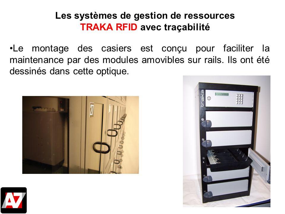 Le montage des casiers est conçu pour faciliter la maintenance par des modules amovibles sur rails. Ils ont été dessinés dans cette optique. Les systè
