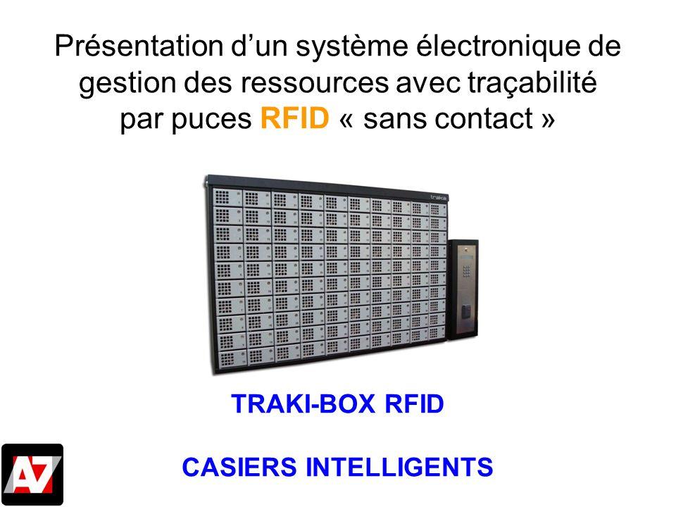 Présentation dun système électronique de gestion des ressources avec traçabilité par puces RFID « sans contact » TRAKI-BOX RFID CASIERS INTELLIGENTS