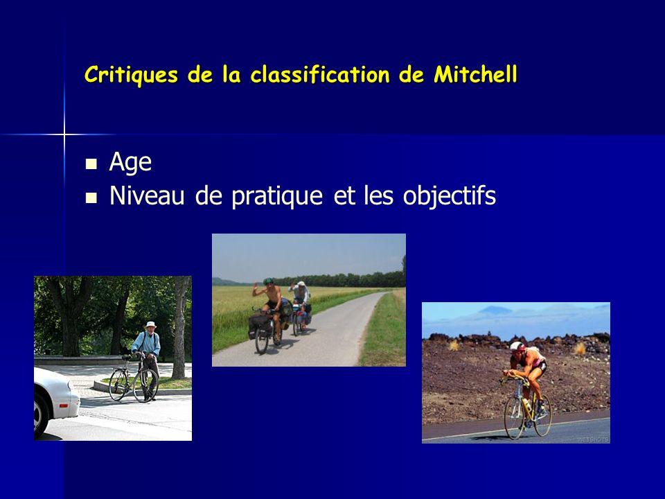 Critiques de la classification de Mitchell Age Niveau de pratique et les objectifs