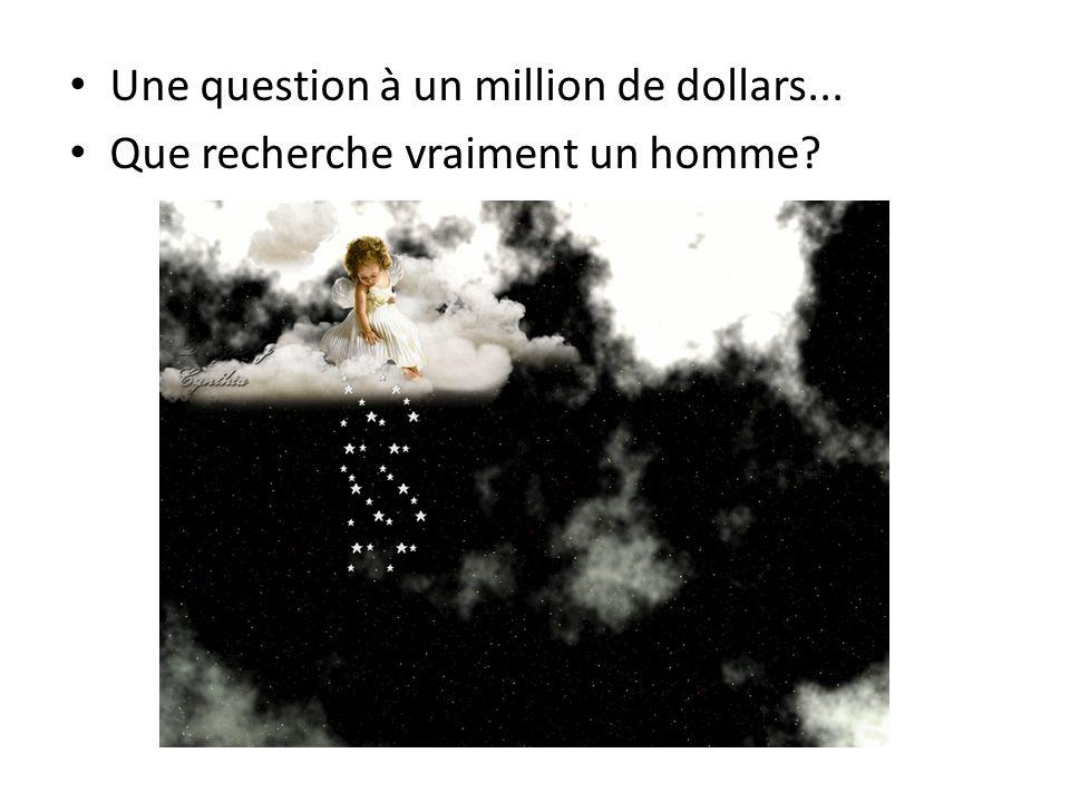 Une question à un million de dollars... Que recherche vraiment un homme?