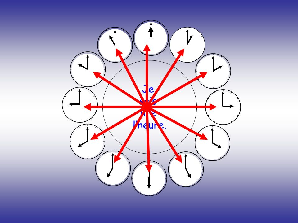 Choisis la bonne réponse Bravo ! Il est 6 heures. Il est 7 heures. Il est 12 heures.