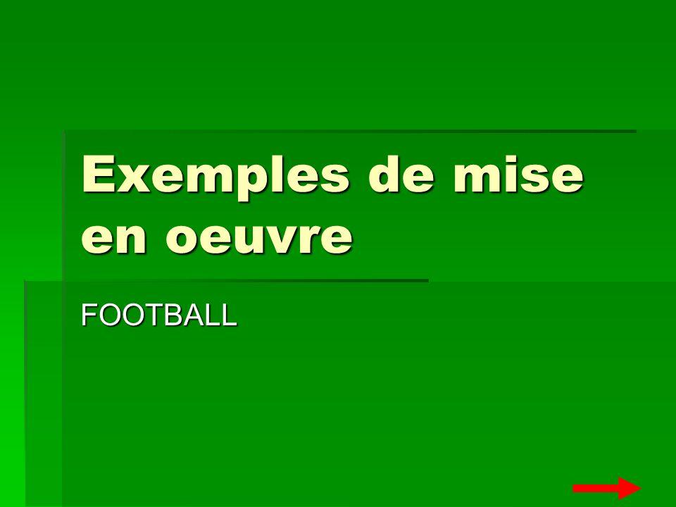 Exemples de mise en oeuvre FOOTBALL