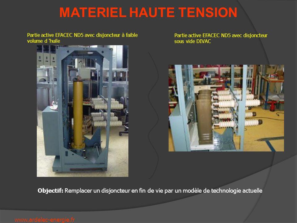 www.ardelec-energie.fr MATERIEL HAUTE TENSION Partie active EFACEC ND5 avec disjoncteur à faible volume d huile Partie active EFACEC ND5 avec disjonct