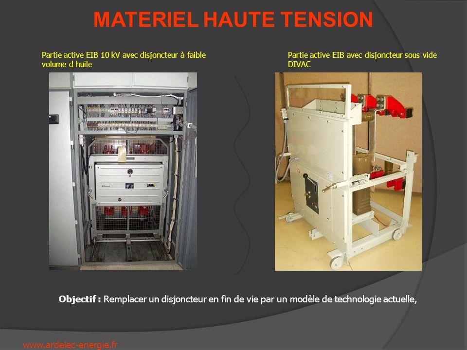 www.ardelec-energie.fr MATERIEL HAUTE TENSION Partie active EIB 10 kV avec disjoncteur à faible volume d huile Partie active EIB avec disjoncteur sous